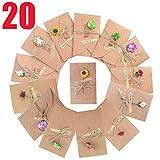 SLOSH 20 Biglietto Di Auguri Cartolina Buste Retrò Busta Carta Kraft Invito Vuote Cartoncini Augurali Di Matrimonio Compleanno Lettera Natale