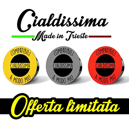 100 CAPSULE Caffè Cialdissima compatibili LAVAZZA A MODO MIO! LINEA ESPRESSO BAR! TRE GUSTI MISTI!
