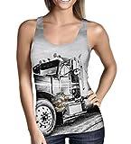 Queen of Cases American Trucker Ladies Tank Top - M Grey