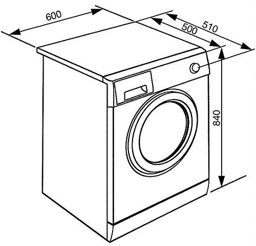 Smeg WHT712LIT lavatrice Libera installazione Caricamento frontale Argento, Bianco 7 kg 1200...