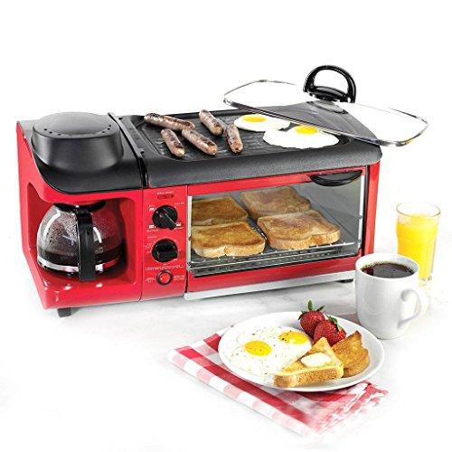 DZW Toast e uovo due fette tostapane e Egg Maker, forno a caffè Omelette colazione Completamente...