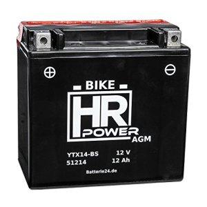 AGM Motorrad Batterie Starterbatterie 12V 12Ah YTX14-BS 51214 wartungsfrei 15