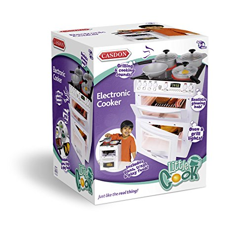 Casdon - Cucina Giocattolo Elettronica 477 Hotpoint, necessita di 3 batterie Tipo C (Non Incluse)
