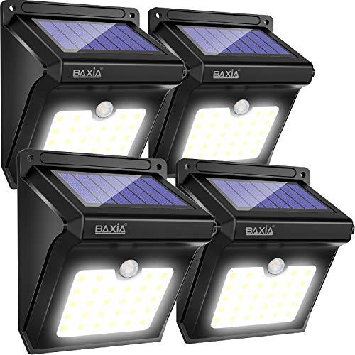 BAXiA Lampada Solare da Esterno, 28 LED Luce Solare con Sensore di Movimento Impermeabile Luci...