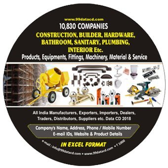 Construction, Building, Hardware, Bathroom, Sanitary, Plumbing, Interior Etc. Related Products, Machinery, Materials & Services Data 2018