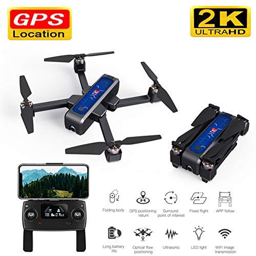 Tianzly Drone Pieghevole Senza Spazzola di ultrasuono di GPS 5G WiFi FPV GPS con l'elicottero Professionale del Quadrato RC del Drone RC della Macchina Fotografica 2K di Anti-Scossa