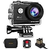 Apexcam 4K WiFi 16MP Ultra HD Action Cam Impermeabile Sott'Acqua 40M 2 Pollici Schermo 2.4G Telecomando 170° Grandangolare con 2 Batterie e Il Kit Accessori