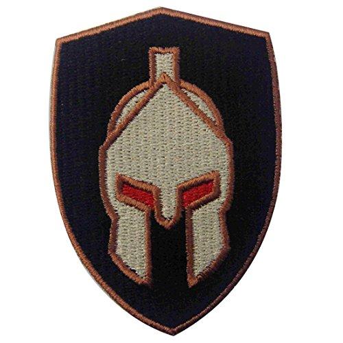 ZEGIN Toppa Ricamata da Applicare con Ferro da Stiro o Cucitura, Tema: Casco Spartano di Battaglia