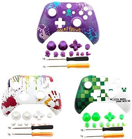 Recall-U Frontplattenabdeckung Front Shell Für Xbox One X S Slim Controller - ABS Wasserpaste Prozess Personalisiert Frontblende Abdeckung Xbox One X S Front Shell Mit Tasten