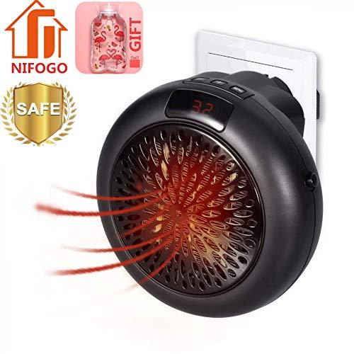Termoventilatore Elettrico Mini Stufe Elettrica - 1000W Mini Handy Heater da Bagno Basso Consumo con...