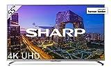 """Sharp LC-55UI8762ES - Smart TV 55"""" 4K Ultra HD (LED, 3 HDMI 2.0 admiten 2160p a 60Hz, puerto USB 3.0, HDR+, DVB-C, DVB-S, DVB-S2, DVB-T MPEG-2, DVB-T MPEG-4 (H.264), DVB-T2), color gris"""