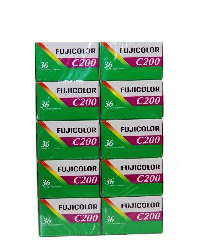 10 Rullini Fuji 35mm 200/36 - Conf. da 10 pz. - Pellicola - Rullino - Fotografia