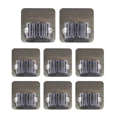 Soporte para fregona ROBAKO Porta escoba autoadhesiva Almacenaje de herramientas de pared Adecuado para la cocina Cuarto de baño Jardín y oficina Impermeable y sin clavos (negro 8 piezas)