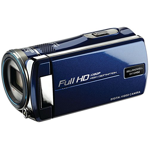 Bell+Howell Cinema DV12HDZ-BLC 1080p Full HD Video Camcorder with 10x Optical Zoom and 3-Inch LCD (Blue)