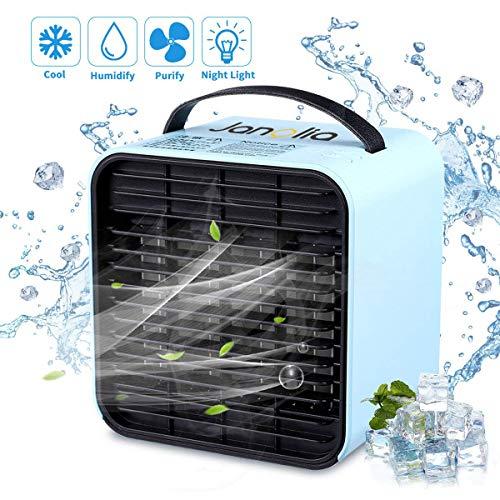 Janolia Mini Raffreddatore d'Aria, USB Condizionatore Portatile, Ventilatore Senza Rumore,...