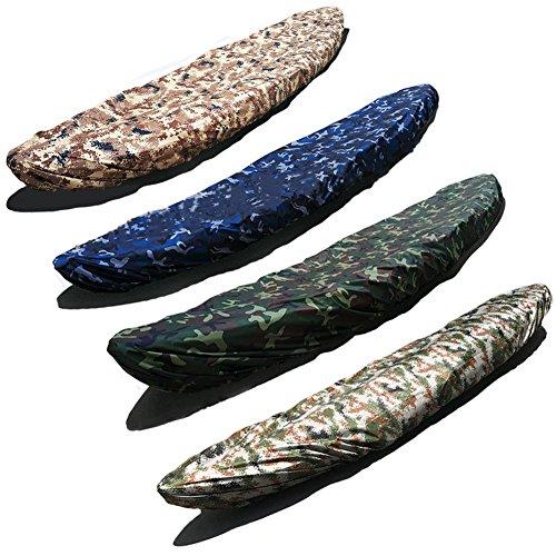 YIFEIKU Co.,Ltd. Cubierta de protección contra el polvo resistente al agua, protección UV, para la pesca, barco, kayak, canoa, almacenamiento al aire libre, Unisex, Ocean Camouflage, 4.1-4.5m