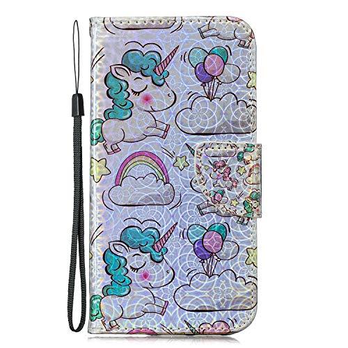 Docrax Samsung Galaxy S7 Edge / G935 Leather Cover, Custodia Portafoglio in Pelle Porta Carte...