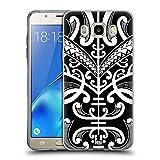 Head Case Designs Face Tattoo Tatuaggi Samoani Cover Morbida In Gel Per Samsung Galaxy J5 (2016)
