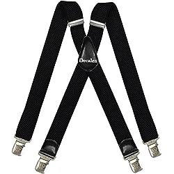 Tirantes Hombre X-Forma Elásticos Ancho 40 mm con clips extra fuerte totalmente adjustable todos los colores (Nergo)