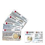 Set - 4 Münzkarten (ohne Münze) von Malta für 2-Euro Gedenkmünzen ab dem Jahr 2009 Größe (B x H): 85,60 mm x 53,98 mm vorgestanztes Münzbild ohne 2 Euro Gedenkmünzen