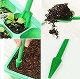 FERZA Home Dispositivo de trasplante 2 Piezas Sembradoras Herramienta de excavación Plántula Jardín Viveros Bandejas (Verde) (Color : Green)