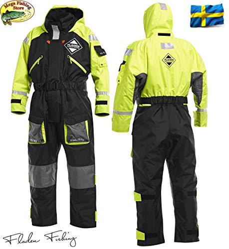 Fladen Fishing Rescue System 845XY Schwimmanzug - Floatinganzug Überlebensanzug Norwegen - Flotation Overall - Einteiler (L / 80-100kg / 170-183cm)