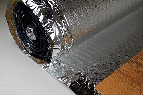 50 m2 in suono isolamento in alluminio acqua-vapore fermo per LAMINATO pavimenti in parquet, SILVER...