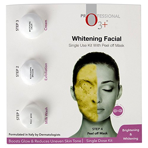 O3+ Whitening Facial Kit Includes Milk Wash, Microderma Brasion, Whitening Cream and Peel Off Mask 9