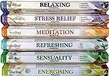 STAMFORD INC. 37322 Premium Aromatherapy Hex Range Incense Sticks - Relaxing, Stress Relief, Meditation, Refreshing, Sensuality & Energising Incense gift pack.