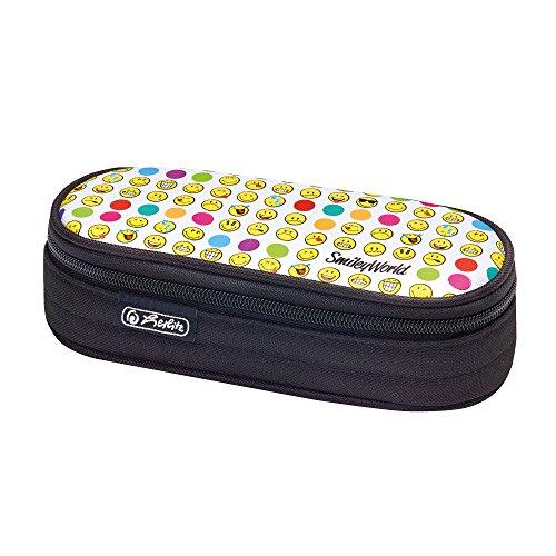 Herlitz 50015214 Astuccio, Rettangolare, Motivo Smiley World Rainbow Faces, Multicolore