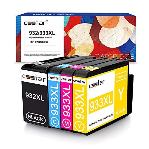 CSSTAR Compatibili Cartuccia d'inchiostro Sostituzione per HP 932 933 XL 932XL 933XL Multipack per...
