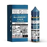 Blueberry Cake Liquid (DIY) - Glas Basix -Blaubeerkuchen- 50ml fertiges E-Liquid-70VG/30PG - 0 mg Nikotin - für E-Zigarette/E-Shisha