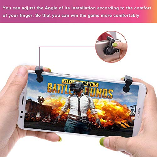 MILKY-WAY PUBG Gaming Joystick for All Smart Phone ● Trigger for Mobile Controller ● Fire Button Assist Tool (Black)