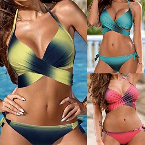 1807024f379f8 Sexy Bikini Set Hffan Damen Reizvolle Push-up Bademode BH Klassisch ...