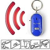 Bloomma Schlüsselfinder, LED-Schlüsselanhänger, Pfeife, Geräuschsteuerung mit An-/Aus-Schalter, Anti-Verlust-Alarm-Tracker für Familie, Zuhause, Kinder, ältere
