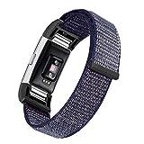 Bai Sli Applicabile A Fitbit Charge 2 Cinturino In Velcro Con Finitura Colore, Cinturino In Nylon Traspirante Di Ricambio Loop Motion, Chiusura Regolabile