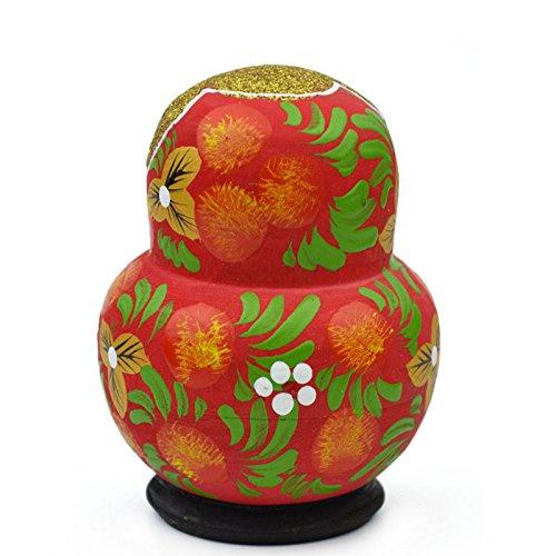 Crewell 10Strati Bambole Russe di Legno per Bambini Giocattolo colorato a Mano Carino Nesting Toys