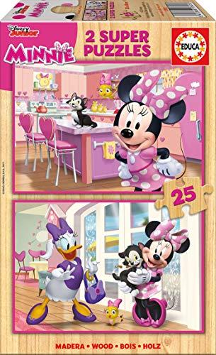 Educa Borras-2x25 Minnie Happy Helpers Puzzle, Colore Vario, Norme, 17625