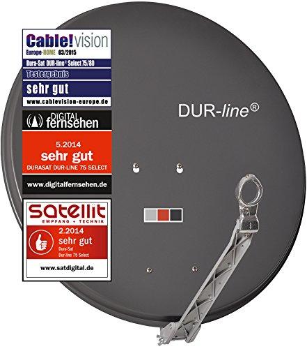 DUR-line 4 Teilnehmer Set - Qualitäts-Alu-Satelliten-Komplettanlage - Select 75/80cm Spiegel/Schüssel