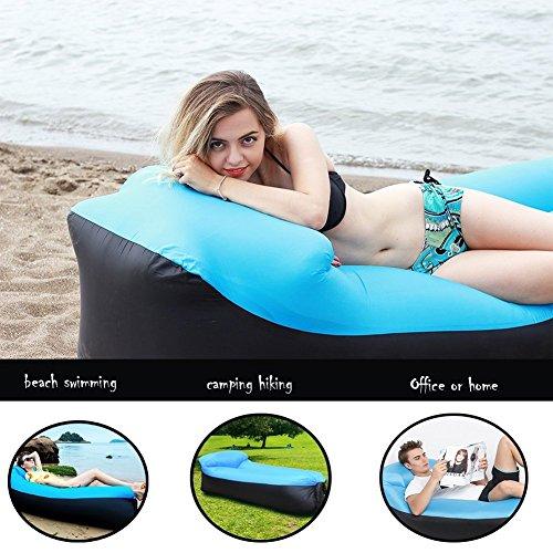 Wasserdichtes Aufblasbares Sofa -Aufblasbares Outdoor Liege Luftsofa Integriertem Kissen, Tragbarer Aufblasbarer Sitzsack, Aufblasbare Couch für Reisen, Camping, Strand, Park, Backyard - 6