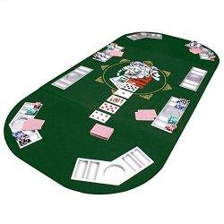 Goods & Gadgets Faltbare Pokertischauflage Poker Tischauflage Pokertisch Casino Pokerauflage 160 x 80 cm