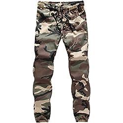Gusspower Hombre Pantalón Deportivo Jogger Militar Camuflaje Estilo Urbano Pantalones Casuales Tallas Grandes para Hombre Chándal