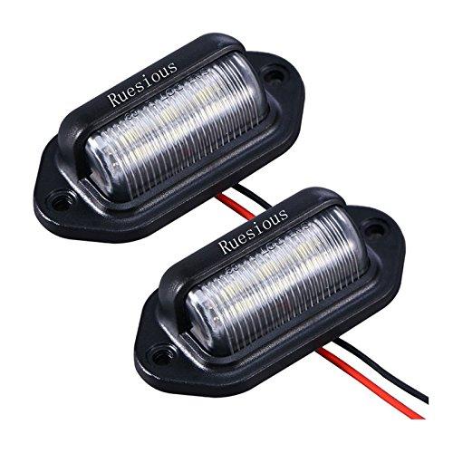 Luce targa a 2 LED per targa, Luce di cortesia per porta di cortesia di Ruesious Luce per rimorchi,...