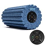 Colonna di massaggio a vibrazione Yoga a 4 velocità, massaggiatore a rullo di schiuma a ingranaggi elettrico per allenamento di Pliability e massaggio sportivo(Blu)