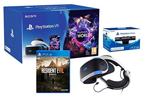 PlayStation VR2 (CUH-ZVR2) 'Resident Evil 7 Pack' + VR Worlds + Camera VR