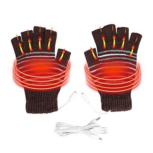 Semme Guanti riscaldati USB, Guanti per Riscaldamento Invernale per Uomo e Donna Lavabili con USB...