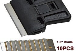 Sécurité Ehdis® Peinture Scraper Mini Grattoir avec 10 supplémentaires de 1,5 pouce One-avivés haute teneur en carbone Lames de rasoir pour Windows Film Install, Car Home Tinting Offre de prix