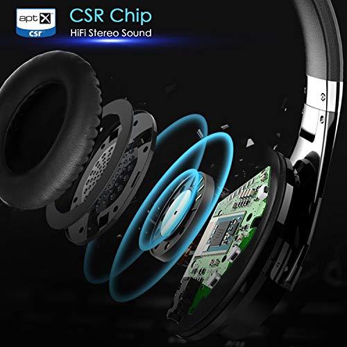 Casque Bluetooth Sans Fil Antibruit - Hiearcool Headphones Wireless Reduction de Bruit Universel Portable,Stéréo Qualité HIFI, pour tous les... 7