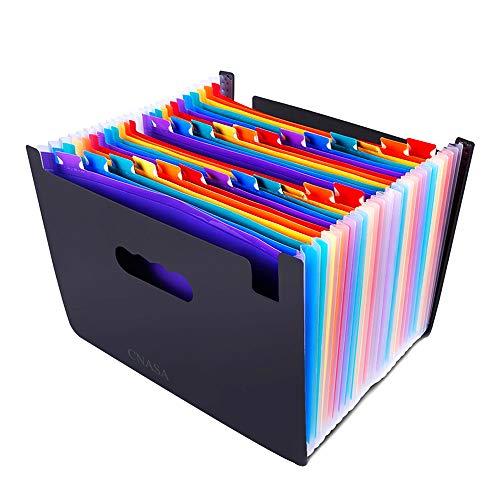 A4 Faechermappe,Cnasa Ziehharmonika Design A4 Kunststoff-Ordner .verarbeitet Gut durchdachter Ordnungshelfer/Sortiermappe. Eignet sich super für Geschäftsvorfälle, Hausgebrauch (24 Fächer)