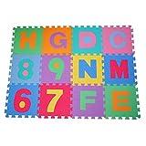HOMCOM Alfombra puzle 192x192 cm Niños 3 años 36...